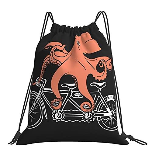 Paedto Bolsa de gimnasio divertida y flexible pulpo pierna mochila con cordón bolsas deportivas bolsa de playa para Yoga gimnasio natación viajes playa