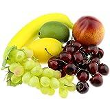 Moving Box plátano Cerezas partido casero falso Decoración de la fruta de la nectarina de uva limón