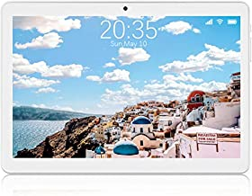 Tablet 10 inch Android 8.1 Go, 3G Unlocked Phablet with Dual SIM Card Slots, 16GB Storage, WiFi, Bluetooth, GPS, Quad-Core, HD Touchscreen - Sliver