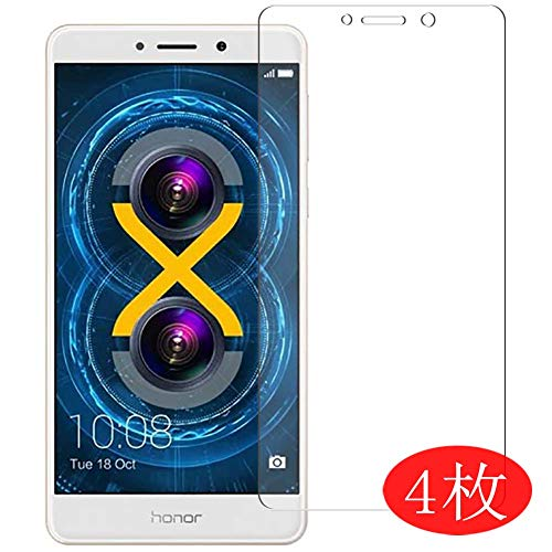 【4 Pack】 Synvy Screen Protector for Huawei Honor 6X 0.14mm TPU Flexible HD Clear Case-Friendly Film Protective Protectors [Not Tempered Glass] New Version