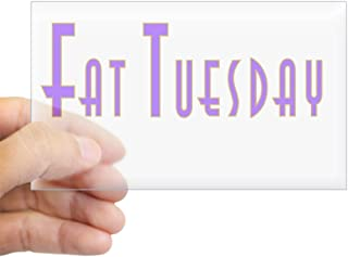CafePress Fat Tuesday Rectangle Sticker Rectangle Bumper Sticker Car Decal