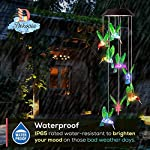 Dekopia Solar Wind Chimes 8 Hummingbird Outdoor Decor Color Changing Light Sensor Solar Power eco Friendly Easy to use… 3