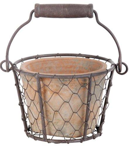 Esschert Design at0915x 13x 10cm in Terracotta, Effetto Anticato in Metallo/Maniglia