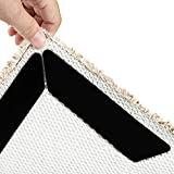 Vidence Rug Gripper for Wooden Floors, 10pcs Anti Slip Rug Underlay, Washable Carpet Grippers with...