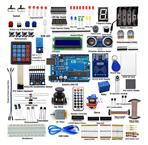 Electrobot RFID Starter Kit for UNO R3 from Knowing to Utilizing, Servo, RC522 RFID Module, PS2 Joystick, Learning Kit with Guidebook