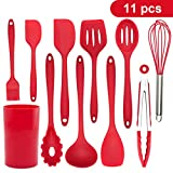 Kitchen Gadgets 11pcs Silicone Utensil Set with Holder Cooking Non Stick Cookware High Heat...