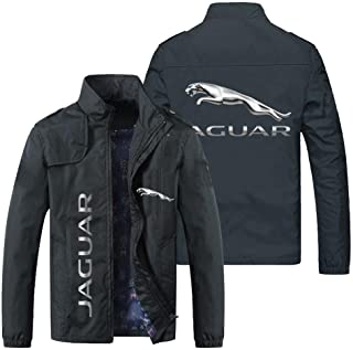 QWEIAS Men's Jackets Cycling Jerseys For Jaguar Print Long Sleeve Outerwear New Thin Windproof Sweatshirts Casual Zip Clot...