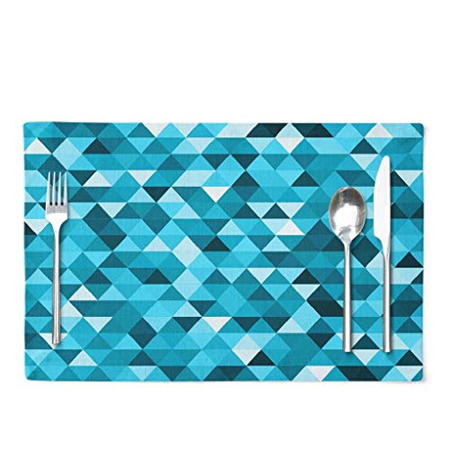 Lattice Placemats Awesome Geomeric Abstract Poligonal Mosaic Triangle Low Poly Geometric with Set of 4 Table Placemats 12X18 Inch Placemats for Kitchen Dining Table D¨¦cor for Kitchen Dining Room