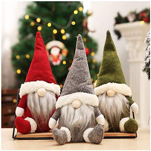Huaxiangoh Decorazione Natalizia,Gnomo di Natale Decorazioni Natalizie, Natalizie Fatte a Mano Tomte Babbo Natale, Regali Nani scandinavi, Bambole di Pezza Babbo Natale Pupazzo Natale Decorazione