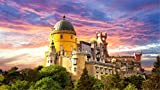 HMTTKPRO 5D Diamond Painting Kit Pena National Palace Portugal Round Drill Embroidery Cross Stitch For Home Wall Decor 30x40 CM