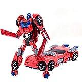 ZXZXZX Deformation Auto Spielzeugroboter, Action Figure Modell Deformation Auto Roboter Fünf-in-One-Krieg Motorrad Racing Elektromagnetische Waffe (Color : B with Box)