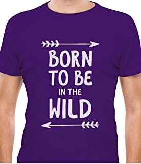 Tstars - Born to Be in The Wild Funny Camping Gift for Camper T-Shirt