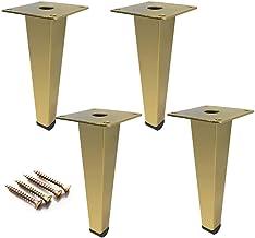 ZJZ Vierkante meubelpoten 4stks,Gouden bankpoten kabinet salontafel Voeten,Tafelbeen Bar Ondersteuning Voeten,IJzeren kolo...