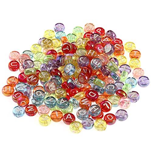 BOSAIYA SL 4 * 7mm 100pcs acrílico Transparente Color Mate Cartas inglesas Perlas T823