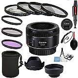 Canon EF 50mm f/1.8 STM Lens with UV, CPL, FLD + Close up kit + Tulip Hood + Collapsible Hood+ Lens Pen & Blower + Lens Cap + Starter kit