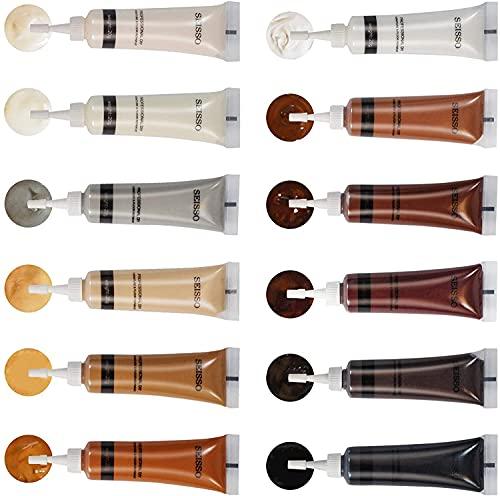 SEISSO Crema reparadora de 12 Colores Pasta reparadora Madera reparador Madera Reparar Madera Reparación de Todo Tipo de Muebles de Madera