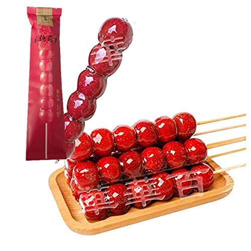 全福徳 冰糖葫芦 原味 【8点セット】 タンフールー 種無し サンザシの飴がけ 糖葫芦 中華伝統お菓子 要冷凍