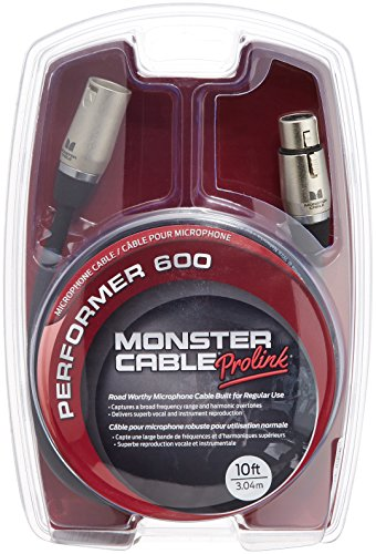Monster Performer 600 Microphone Cable (10 feet / 3 Meters) - Gold Contact XLRs