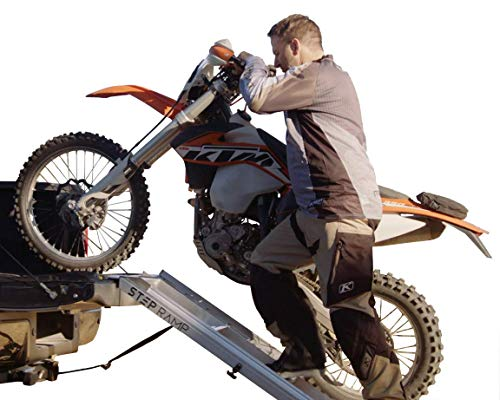 Step Ramp Motorcycle Ramp with Integrated Steps