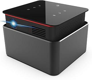 LUMINATY【最新機種】Andoid搭載 小型プロジェクター ANSI 150lm 1080P 対応 WiFi Bluetooth ミラーリング 台形補正 ホームシアター LED スマホ タブレット iPad PC PS DVD Mac 接...