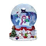 Hengjierun Globo de Nieve, muñeco de Nieve navideño Caja de música Luces LED Que cambian de Color Globos de Nieve Musicales Gran Regalo para niños, Aldult, Cumpleaños, Navidad