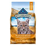 Blue Buffalo Wilderness High Protein, Natural Adult Dry Cat Food, Flatland Feast with Turkey, Quail & Duck 4lb