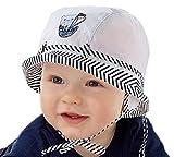 Sombreo de sol para bebé, para vacaciones en la playa, sombrero de verano, 69121824meses, 2a3años, nueva colección marinera White Navy