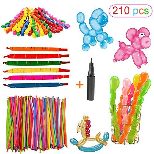 Sunshine smile Luftballons lang,Magic Ballon,Luftballons bunt,modellierballons mit pumpe,DIY Ballon,modellierballons für Kindergeburtstag,modellierballons für Party Hochzeit Dekoration
