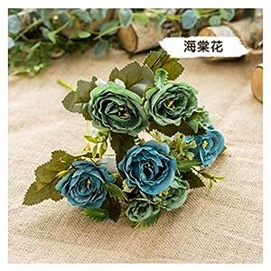 JIAHUAHUHH Single Bundle of European Artificial Flowers, Fake Flowers, Single Decorative Silk Flowers,Green,30cm