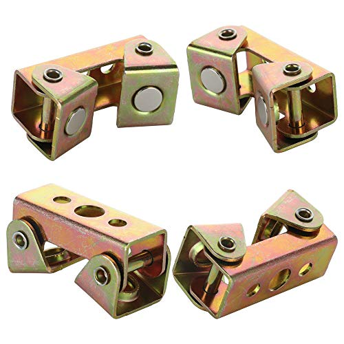 TRRAPLE Magnetic Welding Clamps, Adjustable V-Type Fixture Clamp, 2/4 Pcs Durable Stainless Steel Tab Holder Corner Butt Welding Panel Clamps Tools