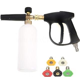 ZHITING Arandela de Alta presión con 5 boquillas de Agua y 1L Kit de Botellas de Lanza de Espuma de Nieve para la Platafor...