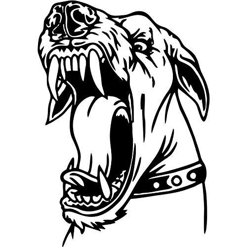 Calcomanía para ordenador portátil para coche, gran protección, cartel de imagen de pared de perro Sfely, motocicleta, nevera, patineta, pegatina para perro, accesorios para coche, 40x57 cm