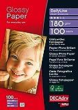 Apli DailyLine Pack de 100 Feuilles de papier photo A4 180 g Brillant