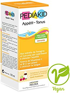 Pediakid Appetite-Weight Gain. All New Formula. Appetite and Weight Gain Stimulant Fortified with Vitamin C & B12