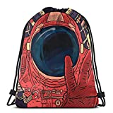 Yuanmeiju Intergalactic Shoulder Bolsa con cordón Backpack String Bags School Rucksack Gym Sport Bag Lightweight