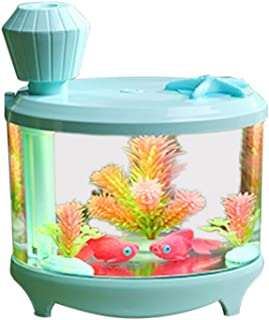 Fenteer USB Ladybug Design Mini Humidifier Home Office Air Diffuser Aroma Mist Maker - Fish Tank (Pale Blue)