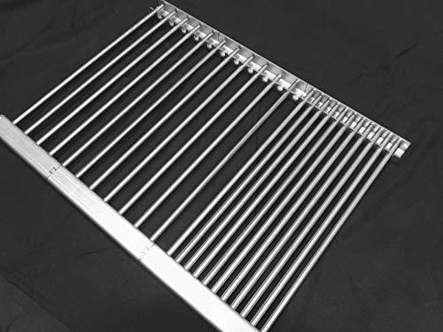 Hz1BBQde Stollenwerk - Parti di ricambio in acciaio inox V2A e V4A, griglia per griglia, vaschetta per grasso e distributore fiamma, per Landmann Triton 3.0 Design (griglia 645 x 440-V2A-incl.-30R)