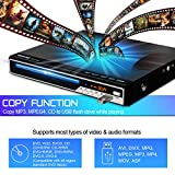 Gueray DVD Player All Region Free DVD CD Recorded Disc Player with HDMI Compatible/AV output HD 1080P Remote Control Supports MIC USB Built-in PAL/NTSC System Coaxial Port for TV Connect