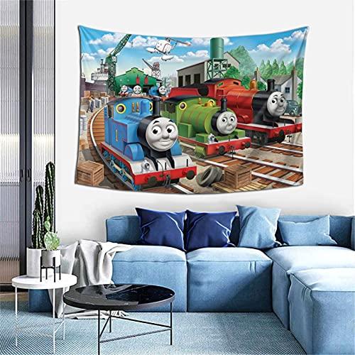 Thomas And Friends Thomas Hippie Tapices de pared, para colgar en la pared, tela decorativa para sala de estar, dormitorio, 101,6 x 152,4 cm