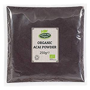 Hatton Hill Organic - Baya de acai en polvo, 250 g, secado por congelación