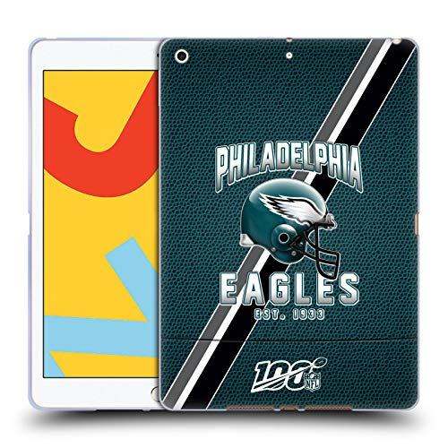 Official NFL Football Stripes 100th 2019/20 Philadelphia Eagles Soft Gel Case Compatible for Apple iPad 10.2 (2019)/(2020)