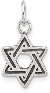 925 Sterling Silver Jewish Jewelry Star Of David Pendant Charm Necklace Religious Judaica Fine Mothers Day Jewelry For Women Gifts For Her