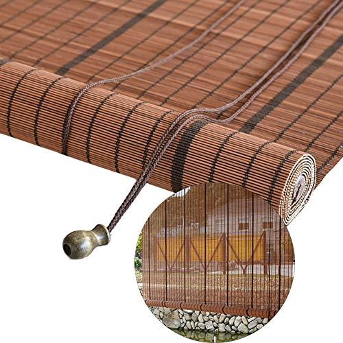 Lqqdp Bambusrollo Rollos Rollläden Im Japanischen Stil für Das Tea House Backyard Hotel, Außerhalb des Rustikalen Bambusvorhangs, 80/100/120/140 cm Breit (Size : 130x250 cm/51.2x98.4in)