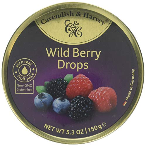 Cavendish And Harvey Candy (3 Pack) Fruit Hard Candy Tin 5.3 Ounces Imported German Candy (Wild Berry Drops)