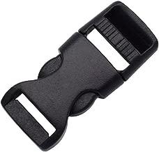 15 Pack 1/2 inch Mini Buckle Adjustable Webbing Buckles 12mm Flat Side Release Buckles for Paracord Bracelet/Backpack Straps/Pet Collar