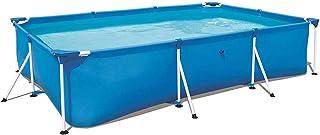 QQLK Frame Pool Piscina Desmontable Tubular 221 X 150 X 43 Cm- Piscina Sobresuelo(1200L)- Malla Compuesta De 3 Capas- Montaje RaPido- Piscina para NinOs Y Adultos - Azul-300×201×66cm