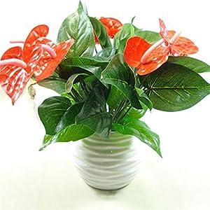 1Bunch Artificial Flower Fake Anthurium Bouquet Bonsai Wedding Arrangement Christmas Home Decoration