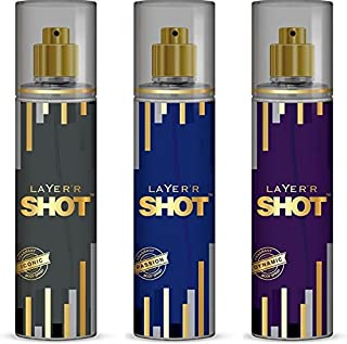 Layer'r Shot Iconic Dynamic Passion Body Spray Combo Of 3