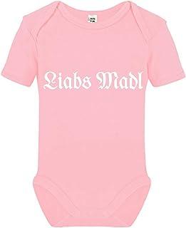 Tachinedas Kreativshop Baby Body Mädchen Strampler bayrisch Liabs Madl