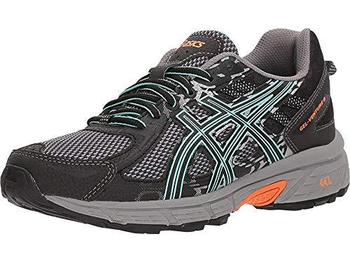 ASICS Women's Gel-Venture 6 Running Shoe, Black/Ice Green/Orange, 11 M US
